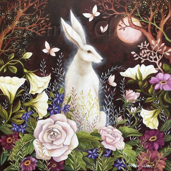 'Language of Flowers' Hand Embellished Print