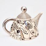 Calligraphy Ceramic Tea Pot