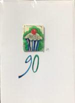 '90' Handmade Birthday Card