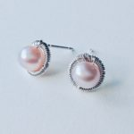 Bound Silver Circle Earrings