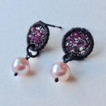 Sparkle Disc Stud Earrings