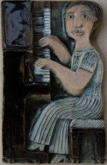 Ceramic Relief Piano