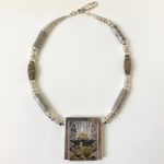 Silver Window Necklace with Jasper