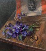 Sweet Violets & Gold Ring
