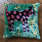 Green 'Nonsense Animal' Cushion