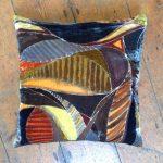 Abstract Silk Velvet Cushion