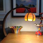 'Glamp' Swivel Lamp in Oak