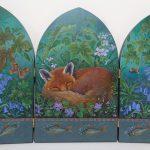 'Fox Among Bluebells'
