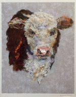 Herefordshire CalfTextile Collage