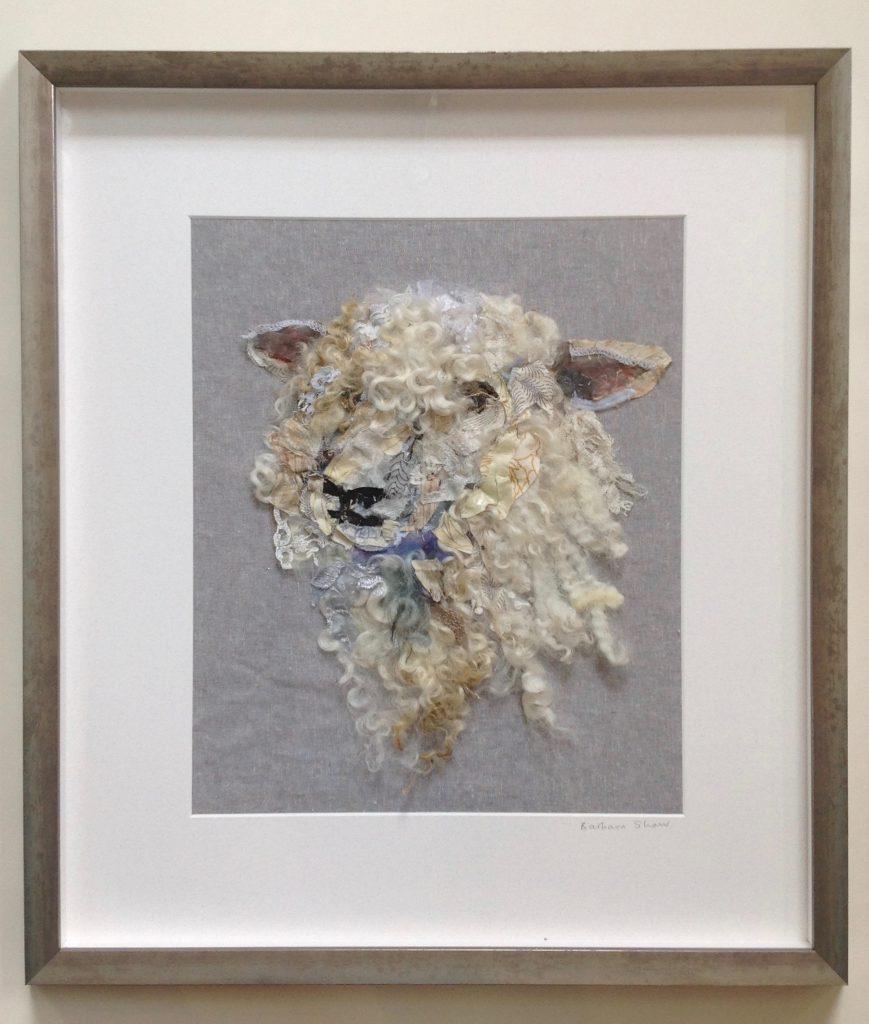 Textile Collage Sheep #31
