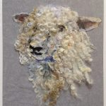 'Sheep #31 Textile Collage