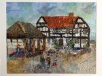 New Inn Pembridge Textile Collage