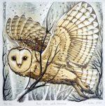 'Barn Owl - Winter Branches'