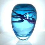 Swirl Vase in Teal & Amethyst
