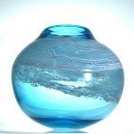 Surf Pebble Vase in Sea Green
