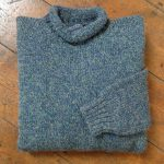 'Cobalt/Woodland' Wool Sweater