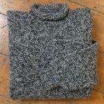 'Black/Pebble' Wool Sweater