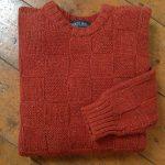 'Russet' Basket Weave Wool Sweater