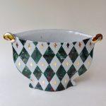 'Harlequin Bowl Vase Green