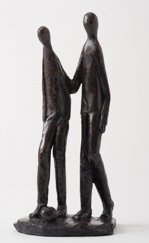 'Brothers' Stone Resin Sculpture