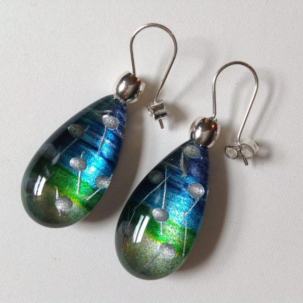 Acrylic Pear Drop Earrings Twilight
