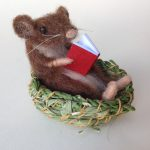 Mouse Basket & Ruby Red Book