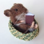 Mouse Basket & Maroon Book