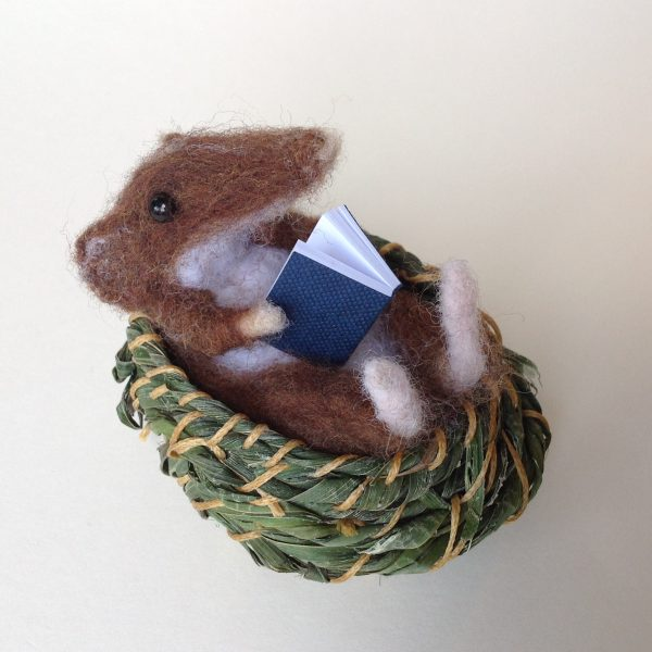 'Mouse Basket & Blue Book'