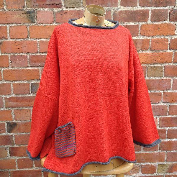 Calypso Tunic Sweater inFlame